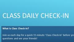 Daily Class Check In Flyer