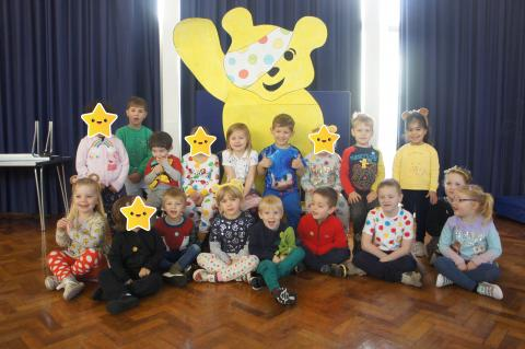 Class 1 meeting Pudsey